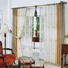 2016 new design patchwork natural linen curtains for living room