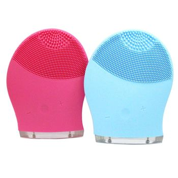 Security approval frequent vibration electric silicone face cleanser brush for adults
