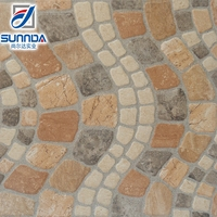 400x400 lowes high quality Pakista exterior garden apartment colorful stone look glazed ceramic flooring tiles