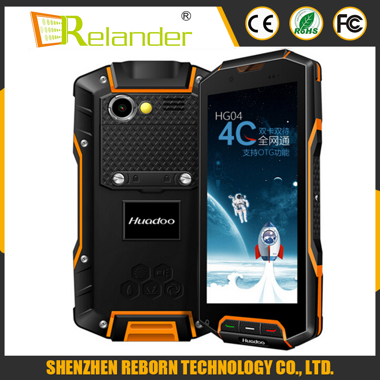 Original Huadoo HG04 IP67 Rugged Waterproof Shockproof Smartphone Quad Core 2GB 16G 4G FDD LTE Phone Android4.4 GPS
