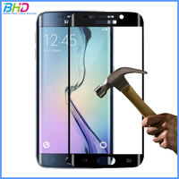 2016 Hot Sale 3D front full cover color Tempered glass screen protector for Samsung Galaxy S6edge
