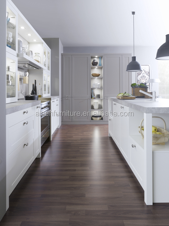 Factory supply Cheap standard white PVC kitchen cabinets with high quality