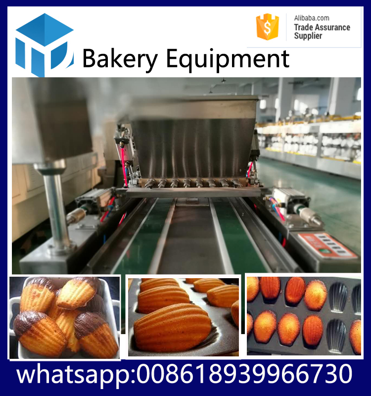 bakery equipment china shanghai tudan complete automatic cake processing line with cake depositor custard cake making machine