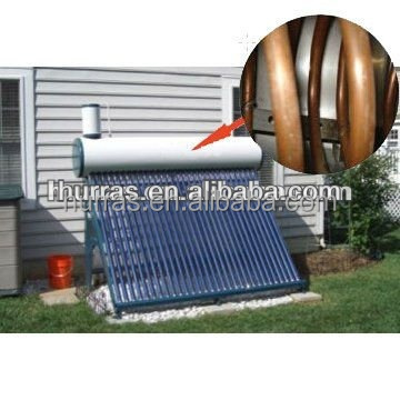 copper pipe solar hot water heater,solar water heater machinery