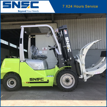 China CE approval 3t diesel forklift with paper roll clamp price