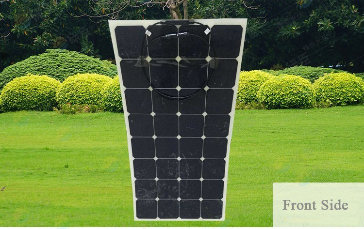 High efficiency mono 120w 150w 200w 250w semi flexible solar panel for soalr panel system with TUV CEC ROHS