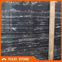 Top quality best price china black portoro marble with white veins