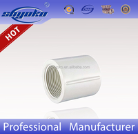Manufacturer Good quality PVC BSPT THREAD PIPE FITTINGS, PVC COUPLING PLASTIC PIPE FITTINGS