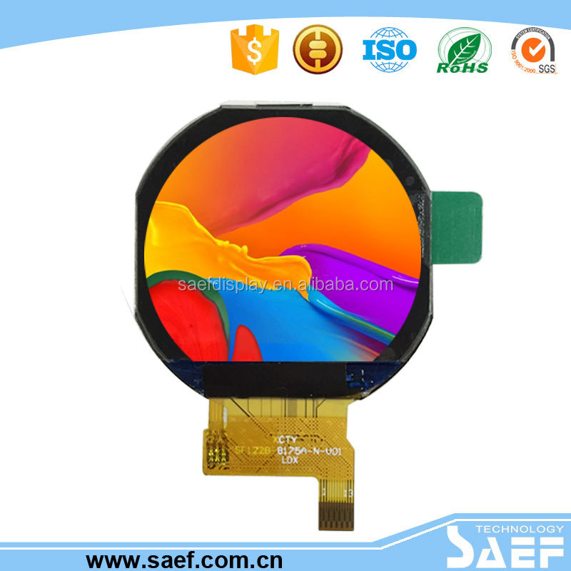 watch lcd module with 240x204 circular lcd screen1.22 inch round lcd display
