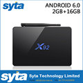 X92 Amlogic S912 Octa Core CPU Kodi 16.1 5G Wifi 4K H.265 Android 6.0 Smart TV Box 2G /16G
