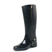 TONGPU women long brand shoes luxury rain boots