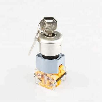 22mm 3 position rotary switch 220v key power switch