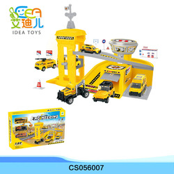 Children boys play set diecast police station department total station set
