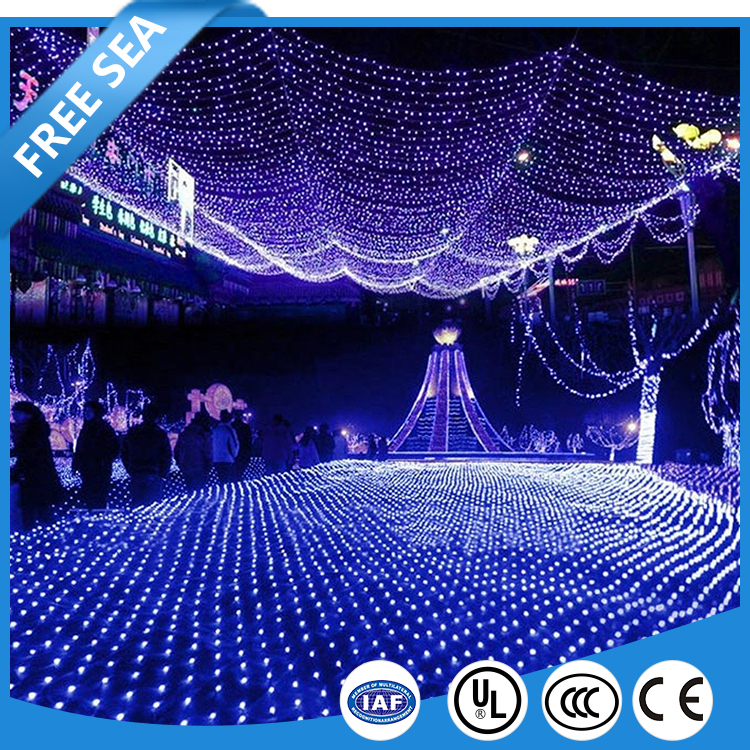Waterproof Cool White LED Fairy Net Lights For Patio Decor