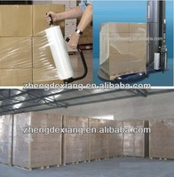 china plastic hand and machine pallet packing transparent casting pe stretch film