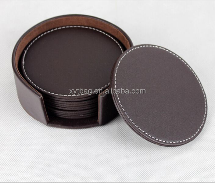 Household Application PU Leather Suction Cup Mat