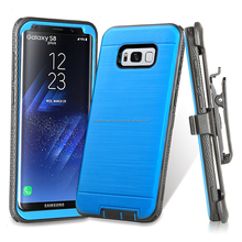 Iron Tank Heavy Duty Full-Body Rugged Holster Armor [Brushed Metal Texture] Case For Samsung Galaxy S8 PLUS/S8 Edge