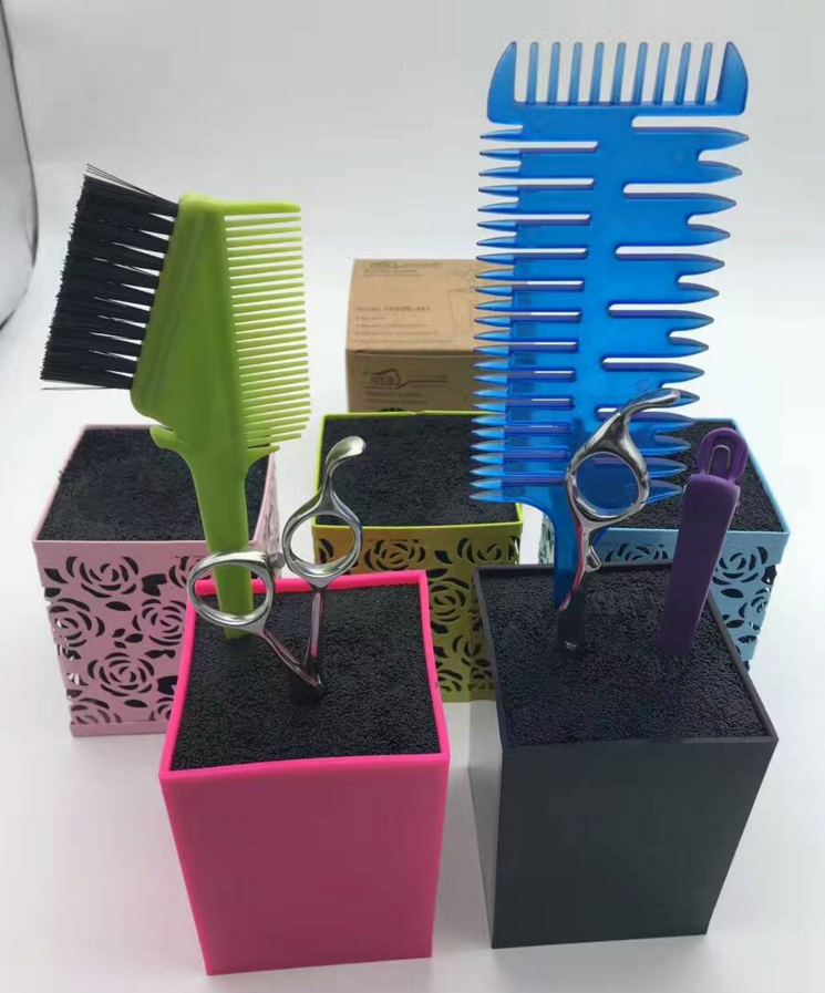 2017 Professional Salon Scissors Holder, Scissors Organizer, Hair Stylist Storage Box for Scissors