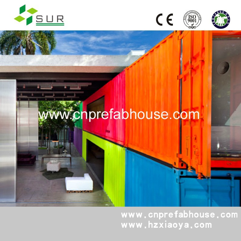 hydroponic farming container/cost-efficient luxury foldable prefab container house
