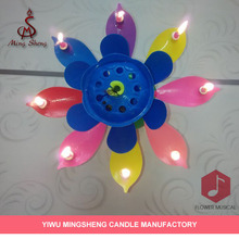 Professional colorful double layer opening flower candle