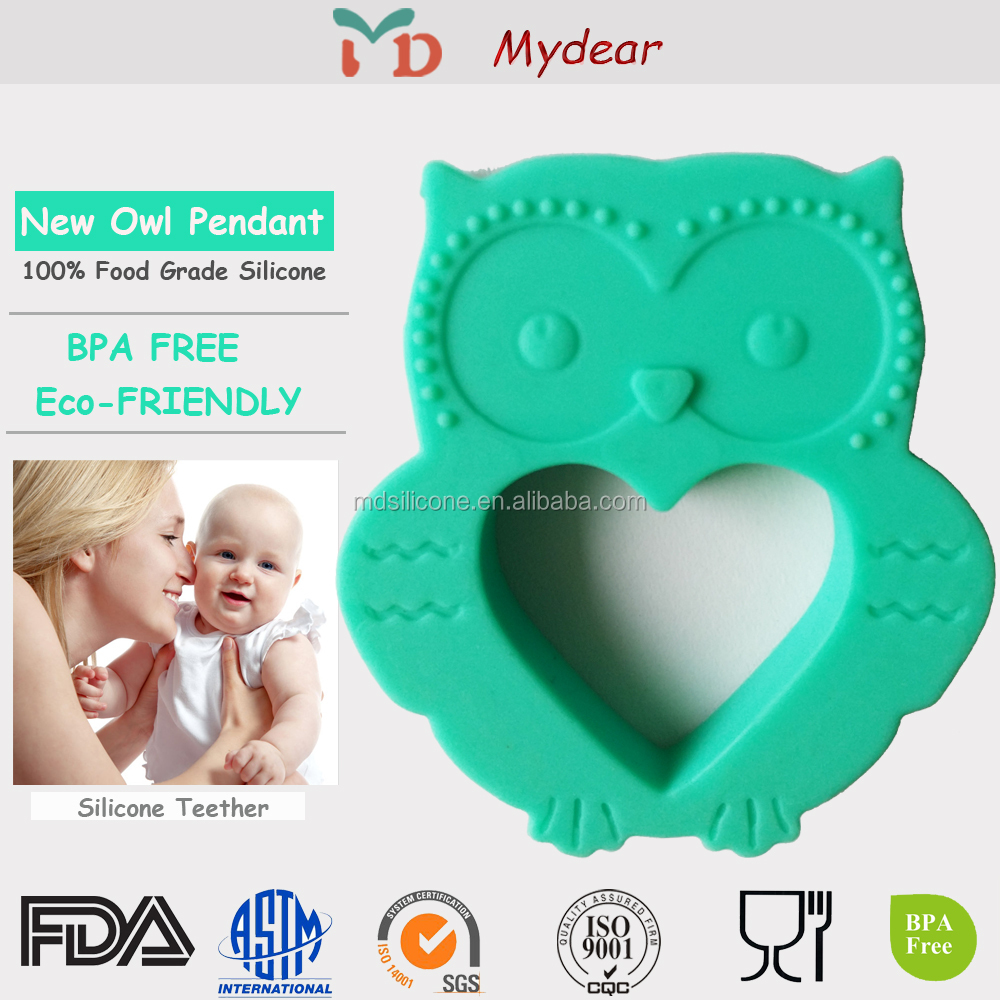 Silicone Owl Teething fashion leader jewelry for baby wholesale jewelry
