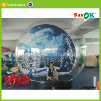 christmas cheap wedding inflatable snow globe for sale
