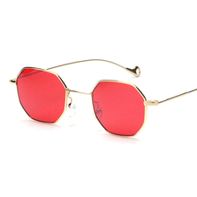 blue yellow red tinted sunglasses women small frame polygon 2017 brand design vintage sun glasses for men retro