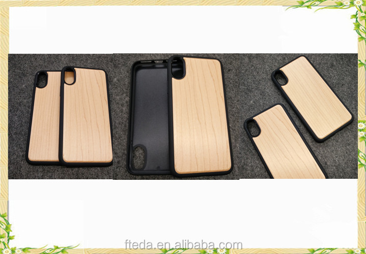 New arrival real wood phone case for iphone X