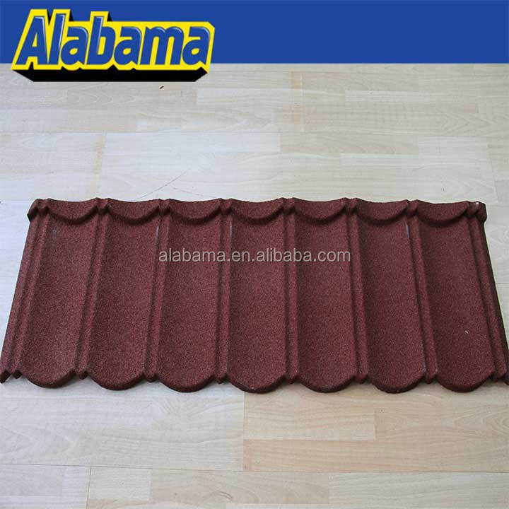 Types Of Decorative Metal High Weather Resistant Colorful Gray Japanese Stone Coated Steel Classic Sheet Roof Tile