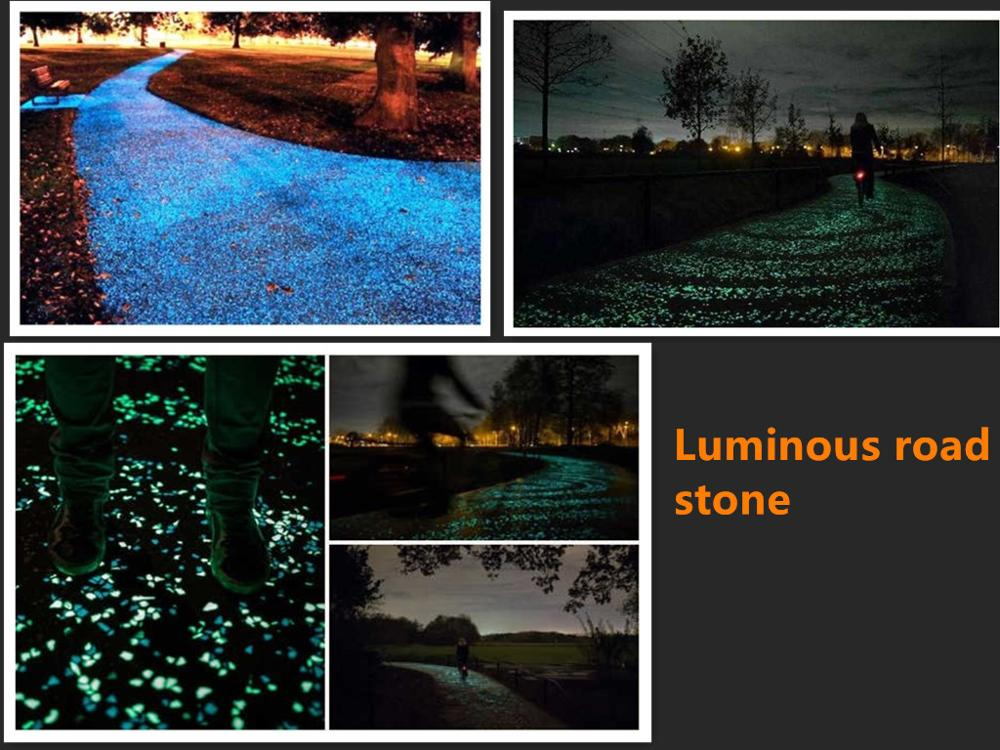 outdoor garden luminous stone for road