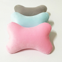 100% polyester custom memory foam adult car seat neck pillow