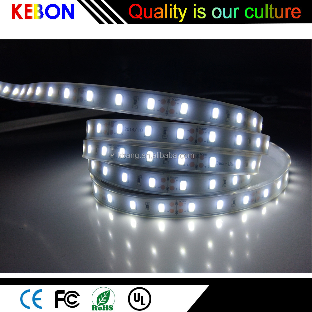 High quality DC12/24V white 2835 SMD 60 <strong>leds</strong>/m waterproof <strong>led</strong> light strip
