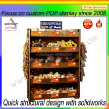 pet stores wooden pet product display stand