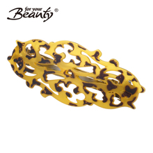Manufacturer supply new style plastic barette hair clips