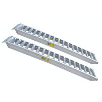 Portable aluminum alloy heavy duty ramps for trucks