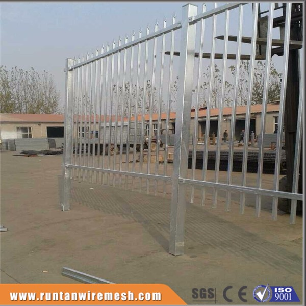 Hot dipped galvanized or powder coated prefabricated steel fence