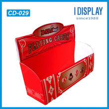 Playing card cardboard counter display stand
