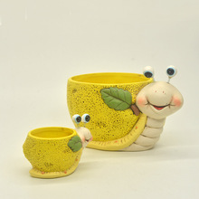 Wholesale snail shape ceramic planter pot for home & garden
