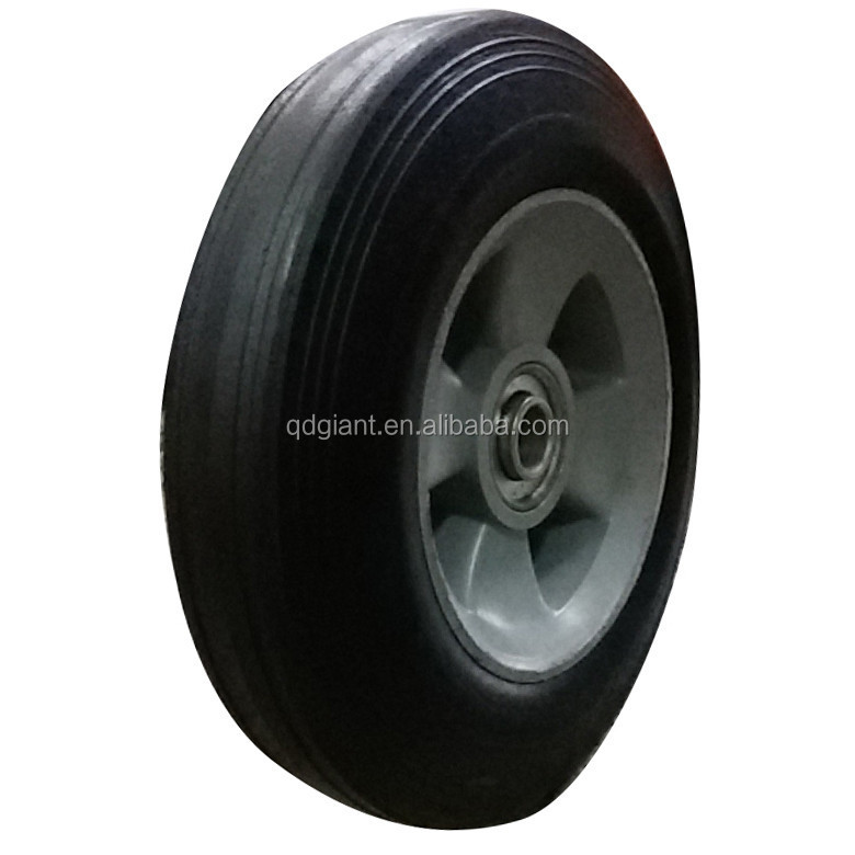 "8"" Inch Replacment Solid Hard Rubber Tyre Wheel And Rim For Trolley Hand Cart"