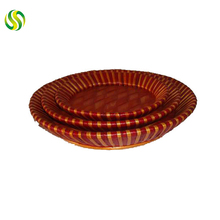 Factory supply home decoration brown plate for food