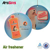 Promotion cheap custom hanging paper air freshener for car