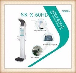 China Supplier Coin Operated Weighing Electronic Scale 19 inch PC| A4 Printer|Omron Blood Pressure Monitor SK-X60HD