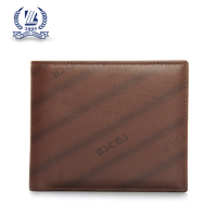 Fashion RFID blocking genuine leather wallet men