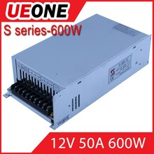 ueone manufacturer 50A 600w switching power supply 220v 12v 50a