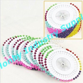 New Arrival Colorful 55mm Ball Shape Decorative Pearl Plastic Head Pins In Wheel Packing