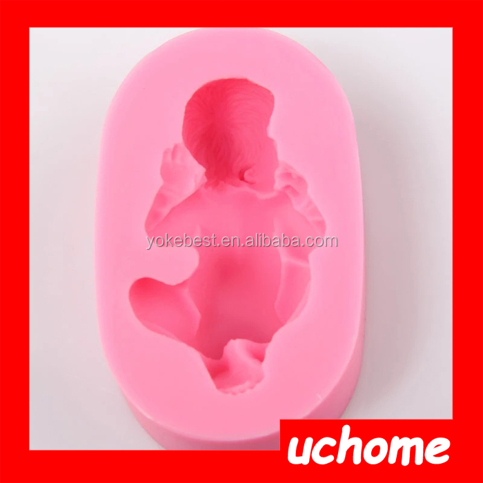 UCHOME Wholesale Promotional High Quality Cake Decorate 3D Sleeping Baby Silicone Soap Mold