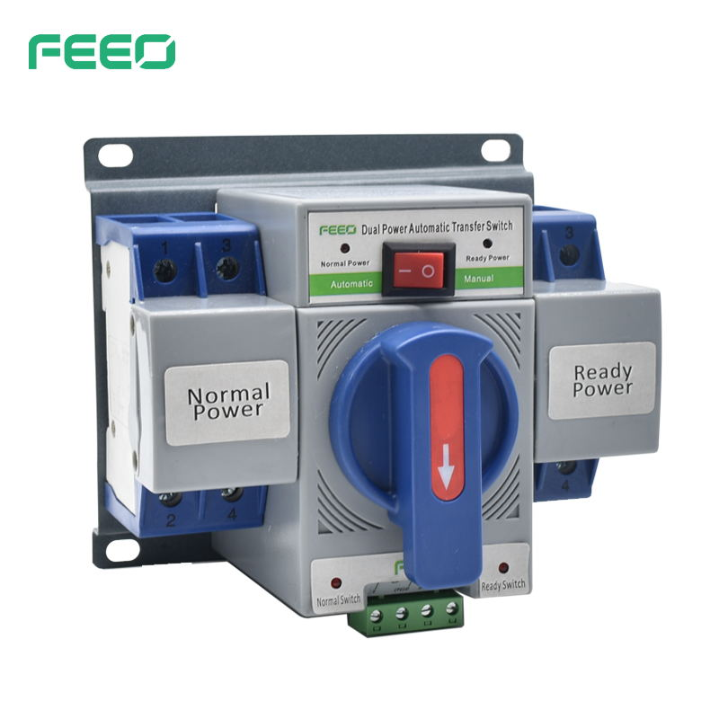 static double output power automatic manual transfer switch
