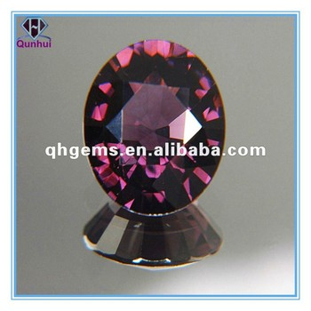 fancy dark plum oval shaped gemstone jewelry