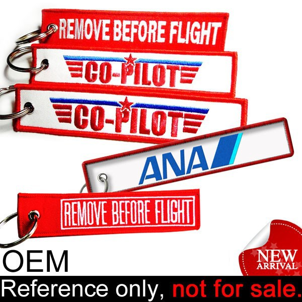 Top classic airplane embroidered customized lanyard