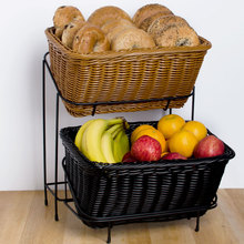 Widely used poly rattan display basket supermarket bread fruit basket